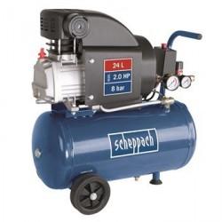 Scheppach HC25 olejový kompresor 8bar s nádobou 24 litrů